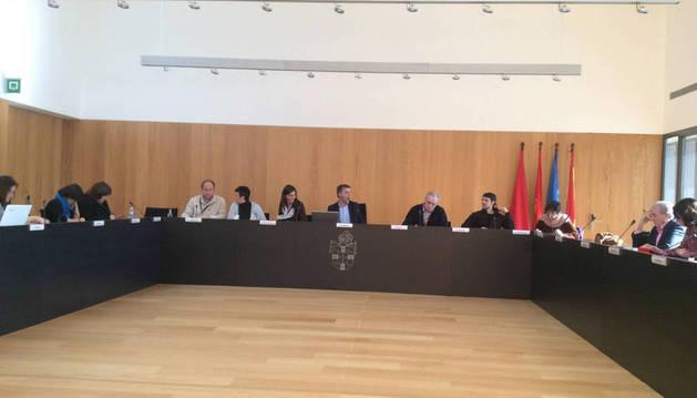 Imagen de un pleno anterior del Ayuntamiento del Valle de Egüés.