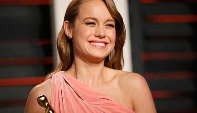 Brie Larson, en una fiesta tras los Oscar.