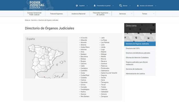 El CGPJ pone en marcha un directorio público de jueces y órganos judiciales