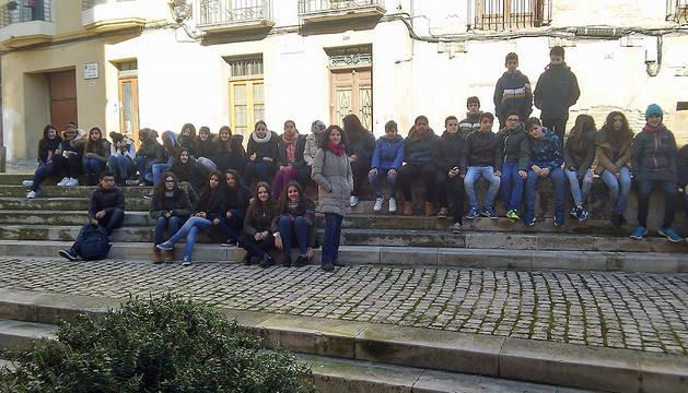 Prácticas de los alumnos del IES Valle del Ebro en la Tudela medieval