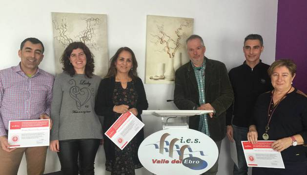 El IES Valle del Ebro, premiado por un proyecto escolar