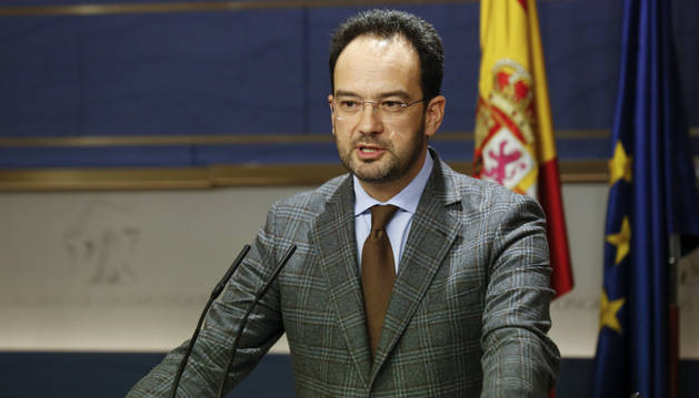 El portavoz del PSOE en la Cámara Baja, Antonio Hernando.