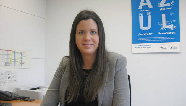 Cristina Patier, responsable de Gestión de Personas de Mutua Navarra