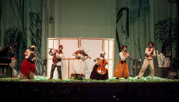 Imagen del concierto escolar que acoge el Auditorio de Barañain.