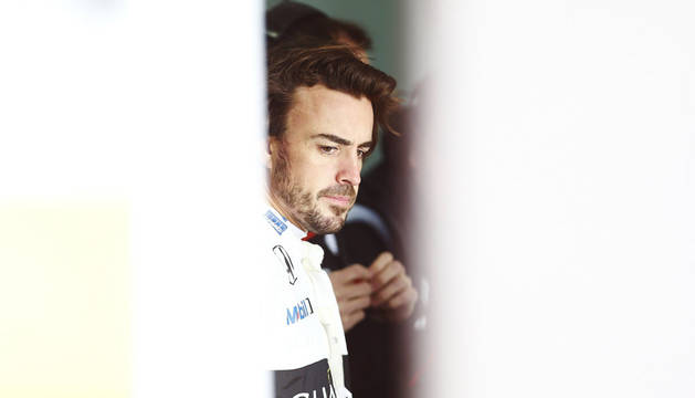 Fernando Alonso, en Montmeló.