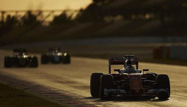 Sebastian Vettel, en Montmeló.