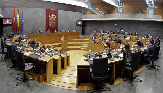 Vista general del pleno durante la intervención de la popular Ana Beltrán.
