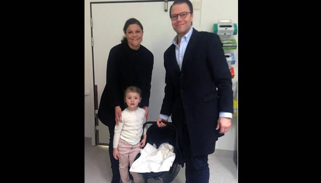 La princesa Victoria de Suecia da a luz a su segundo hijo