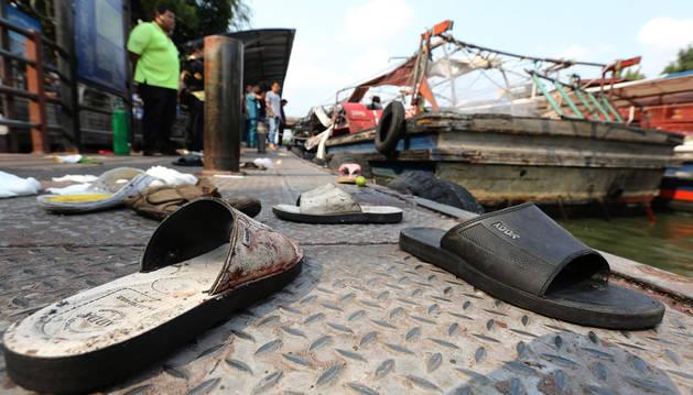 Al menos 60 heridos en la explosión de un barco taxi en Bangkok
