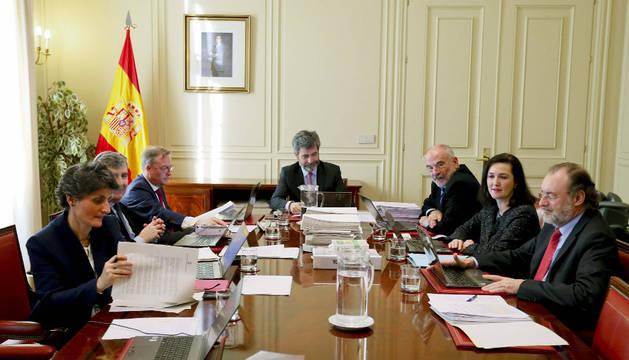 Una reunión de la Comisión Permanente del Consejo General del Poder Judicial.