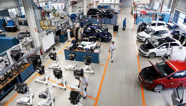 Un total de 1.600 m2, La mitad de las instalaciones de Volkswagen Academy, están destinadas a talleres.