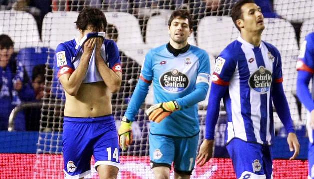 La mala suerte condena al Dépor a un nuevo empate (3-3)