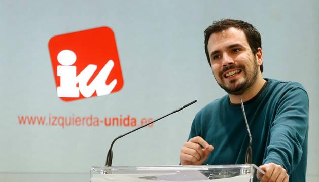 El portavoz de Izquierda Unida en el Congreso, Alberto Garzón.