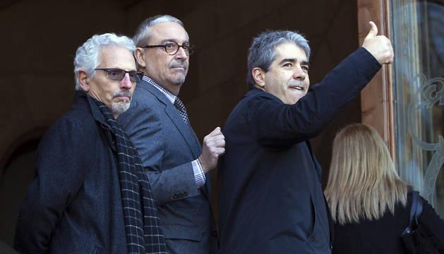 Francesc Homs, a su llegada al Tribunal Superior de Justicia de Cataluña.