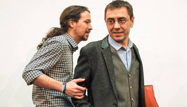 Pablo Iglesias, junto a Monedero.