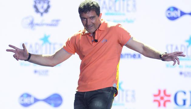 Antonio Banderas, durante una conferencia de prensa para hablar sobre Starlite.