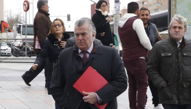 El extesorero del PP Luis Bárcenas llega a los Juzgados de Plaza de Castilla