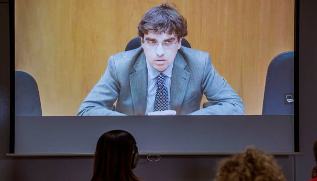 El asesor contable del grupo Nóos Luis Tejeiro, durante su declaración como testigo.
