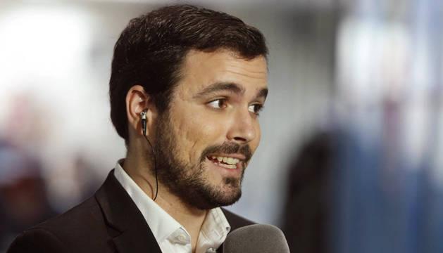 El portavoz de IU en el Congreso, Alberto Garzón.