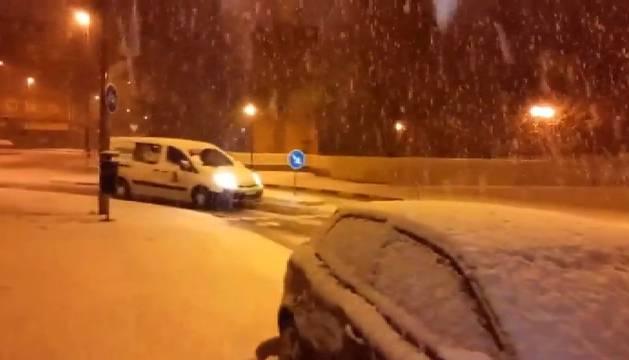 El frente polar lleva grandes nevadas a Navarra