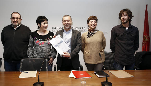 El vicepresidente de Derechos Sociales durante la presentación de la nueva renta garantizada de ingresos.