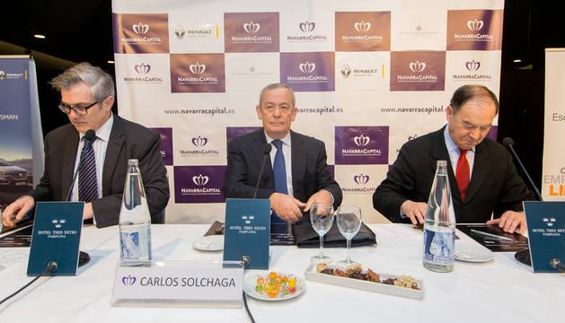 El exministro de Economía, Carlos Solchaga, en un desayuno empresarial.