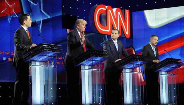 Trump y sus rivales rebajan el tono en el debate más sobrio de todos