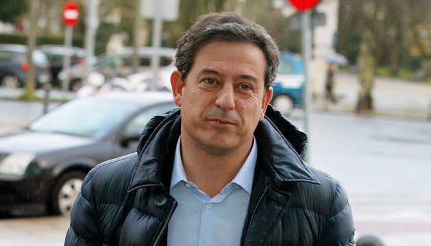 José Ramón Gómez Besteiro, en los juzgados de Lugo.