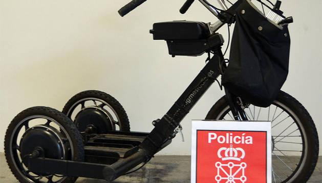 Aún no ha sido denunciado el robo de este triciclo para minusválidos.