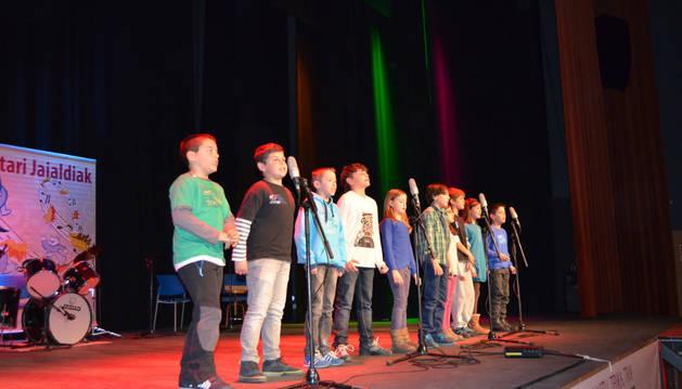 Una de las actuaciones que tuvieron lugar durante la tarde del pasado sábado en Lodosa.