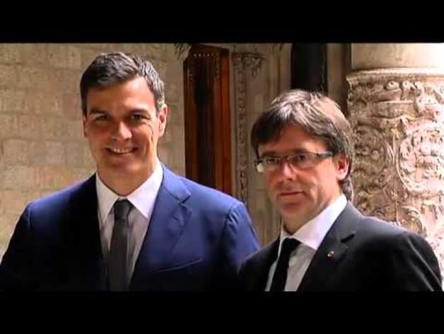 Sánchez se reúne con Puigdemont