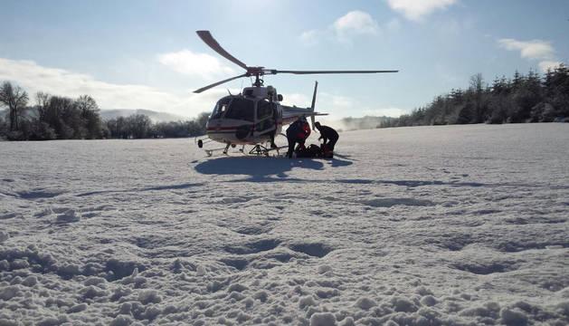 Rescatados en helicóptero dos peregrinos que hacían el Camino de Santiago