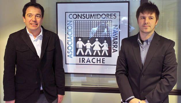 Por la izquierda, Manuel Arizcun y Alberto Lázcoz.