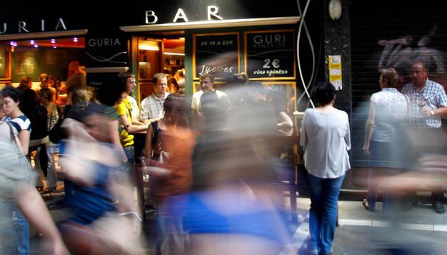 Los establecimientos de hostelería del Casco Antiguo, afectados ahora por una moratoria que impide otorgar nuevas licencias.