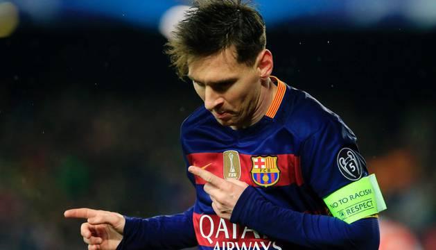 Messi marcó el tercer gol del Barcelona.