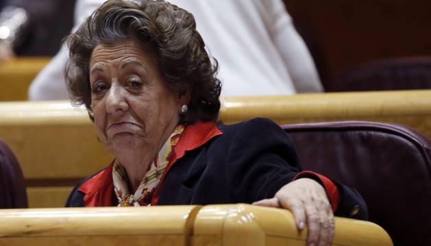 Rita Barberá, exalcaldesa de Valencia, en el Senado.