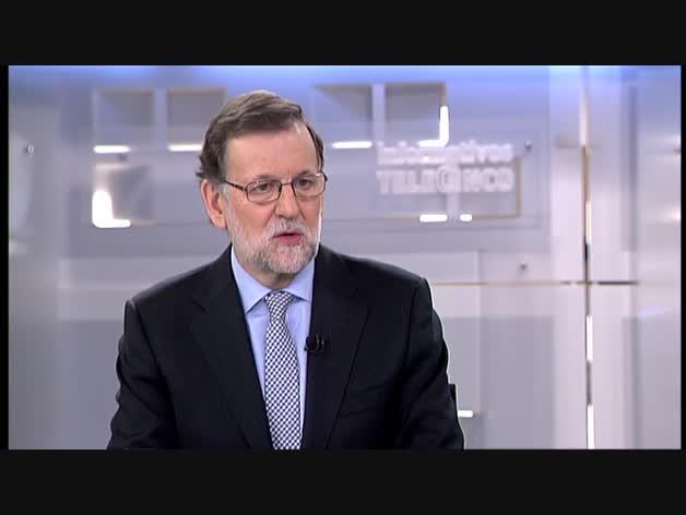 Entrevista del Pedro Piqueras a Mariano Rajoy en Telecinco