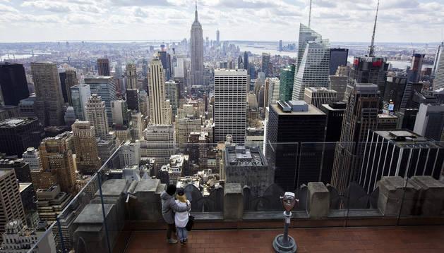 Vista de la ciudad de Nueva York desde el punto de observación del edificio Rockefeller.