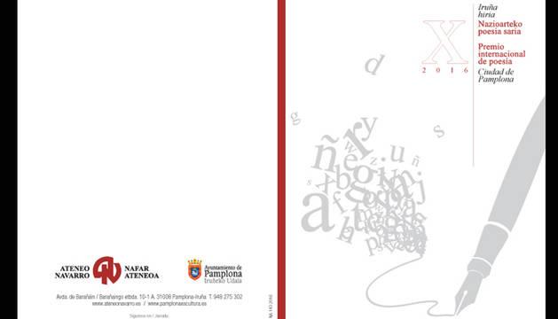 El 30 de abril finaliza el plazo para presentarse al Concurso de Poesía Ciudad de Pamplona