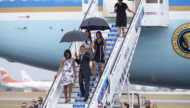 Llega a Cuba el presidente de Estados Unidos, Barack Obama