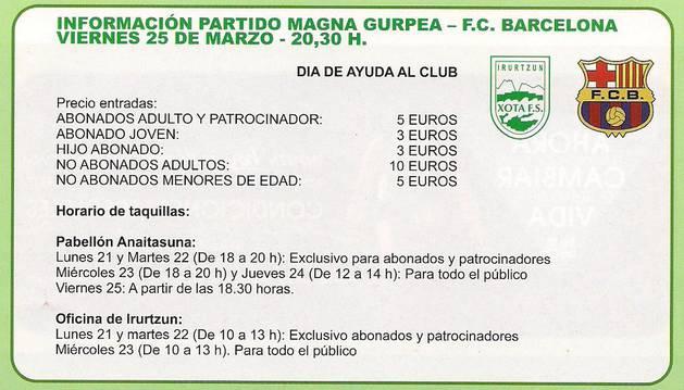 Precio de las entradas para ver el partido del Magna contra el Barcelona.