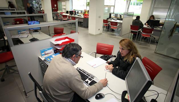 Una oficina de empleo en Tudela.