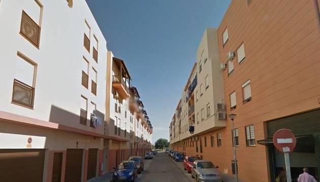 Calle Marisma, en Puerto Real (Cádiz), en la que ha tenido lugar el suceso.