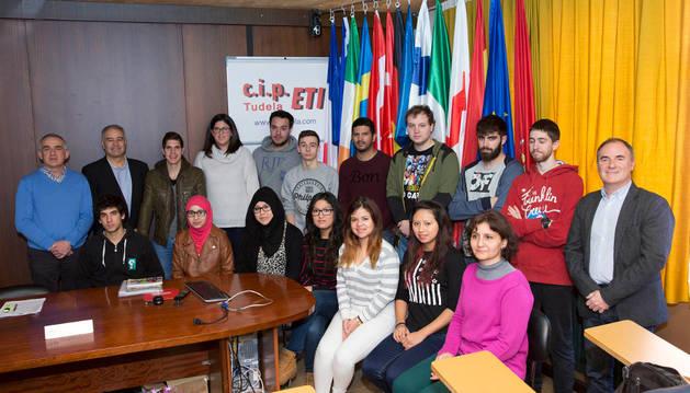Imagen de los alumnos del CIP ETI que disfrutarán de una beca Erasmus+.