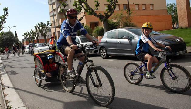 Día de la bicicleta en Tudela en 2012.