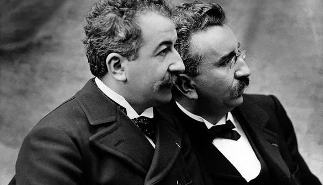 Los hermanos Lumière, inventores del cinematógrafo.