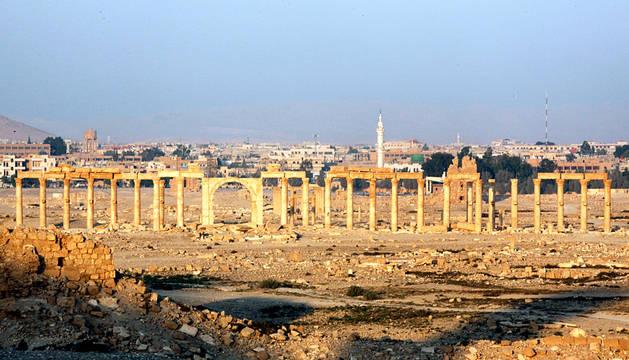 El Ejército sirio entra en Palmira para liberarla del EI