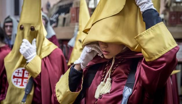 La Hermandad de la Pasión procesionó tres pasos entre la sede de Dormitalería y la plaza Santa María la Real