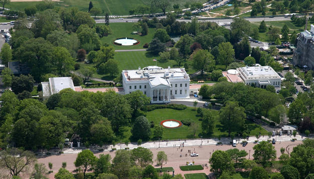 Vista aérea del recinto actual de la Casa Blanca.