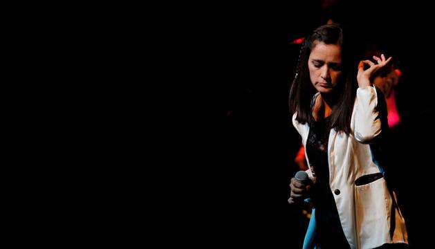 Julieta Venegas, en un concierto en Pamplona.